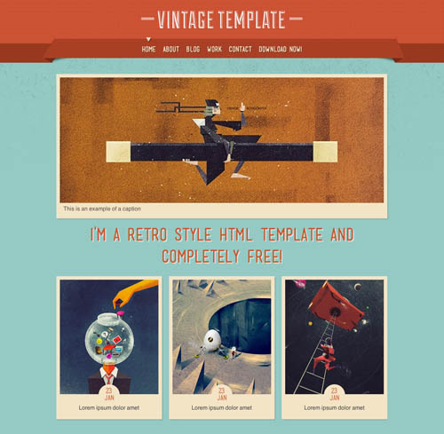 free responsive html website templates vintage 12 Free Responsive HTML Website Templates