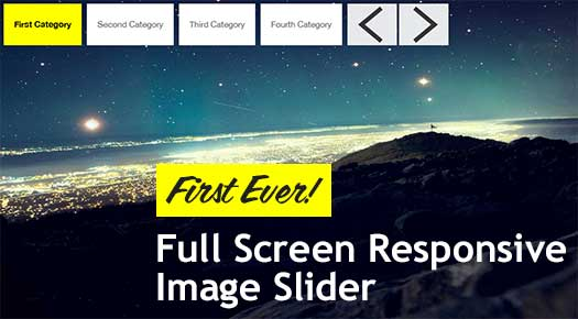 full screen responsive image content slider 25 Best Responsive jQuery Slider Plugins
