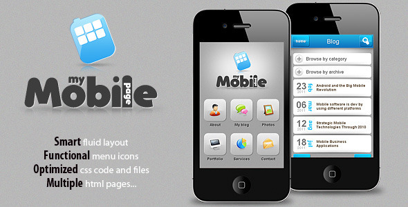 mobile website templates 07 50 Best Mobile Website Templates