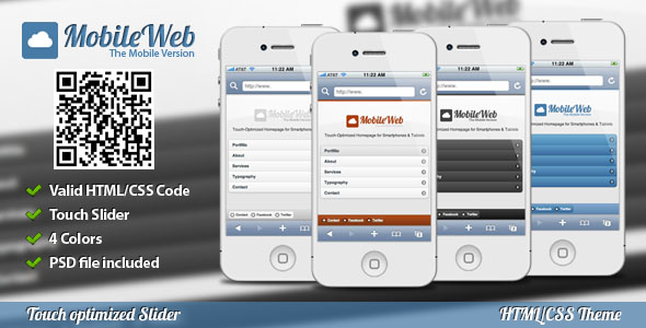 mobile website templates 08 50 Best Mobile Website Templates