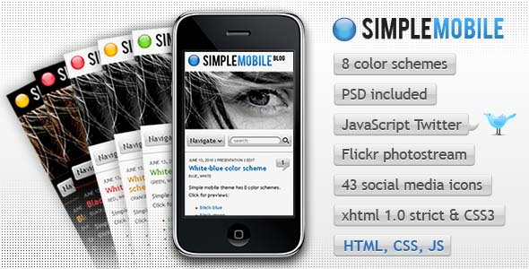 mobile website templates 10 50 Best Mobile Website Templates