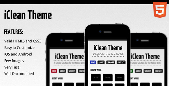 mobile website templates 14 50 Best Mobile Website Templates