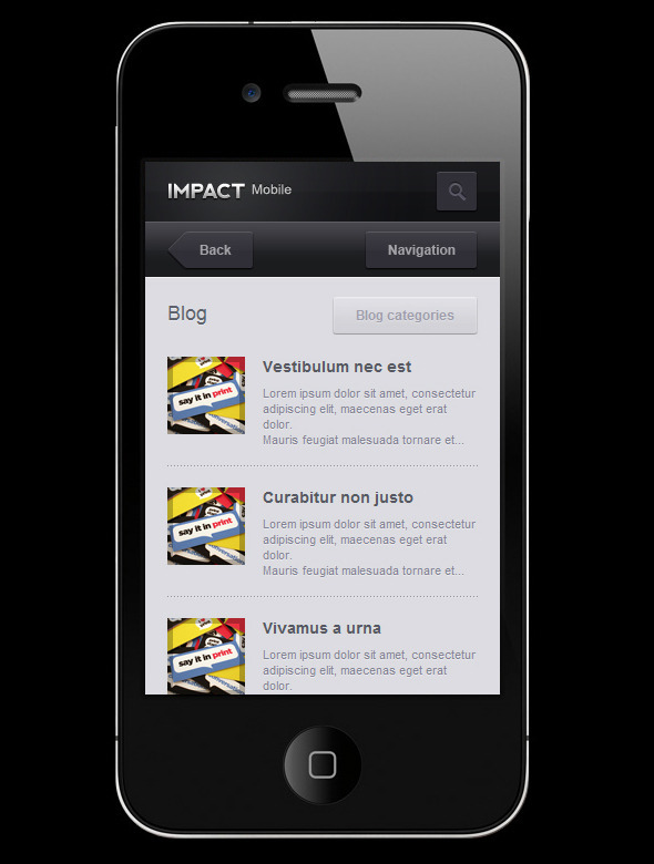 mobile website templates 23 50 Best Mobile Website Templates