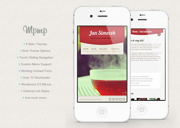 mobile website templates 31 50 Best Mobile Website Templates
