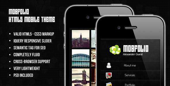mobile website templates 47 50 Best Mobile Website Templates