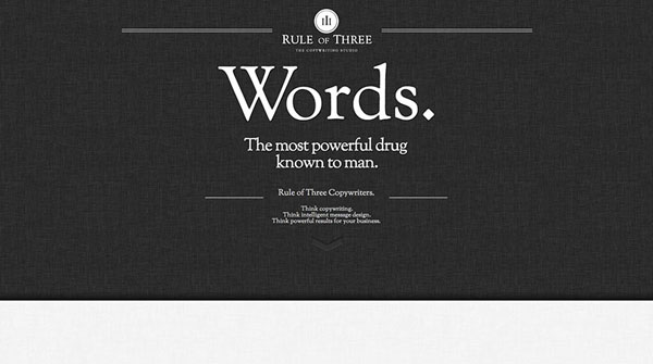 rule of three Web Design Inspiration #13