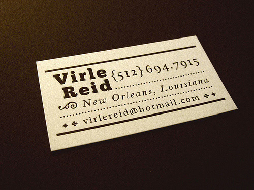 typographic business cards 19 30 Typographic Business Cards Design Inspiration
