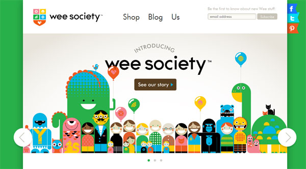 wee society Web Design Inspiration #15