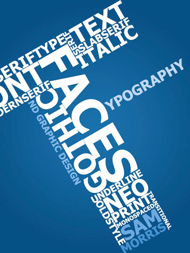 """T"" ypography 25 Creative Typography Poster Design"