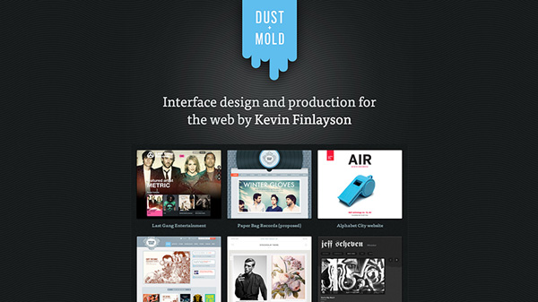 Dust and Mold Design web Web Design Inspiration #17