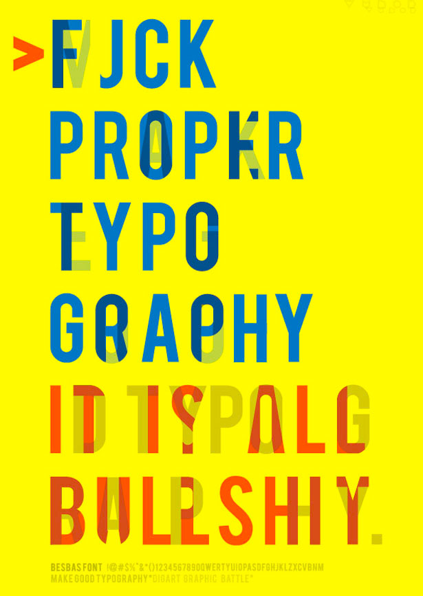 Make Good Typography 25 Creative Typography Poster Design