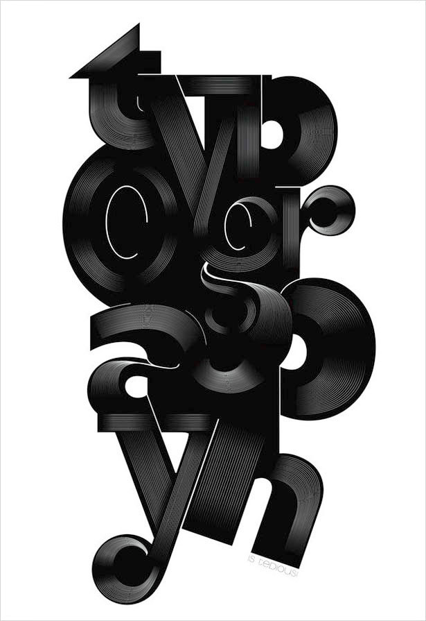 Typography is Tedius 25 Creative Typography Poster Design