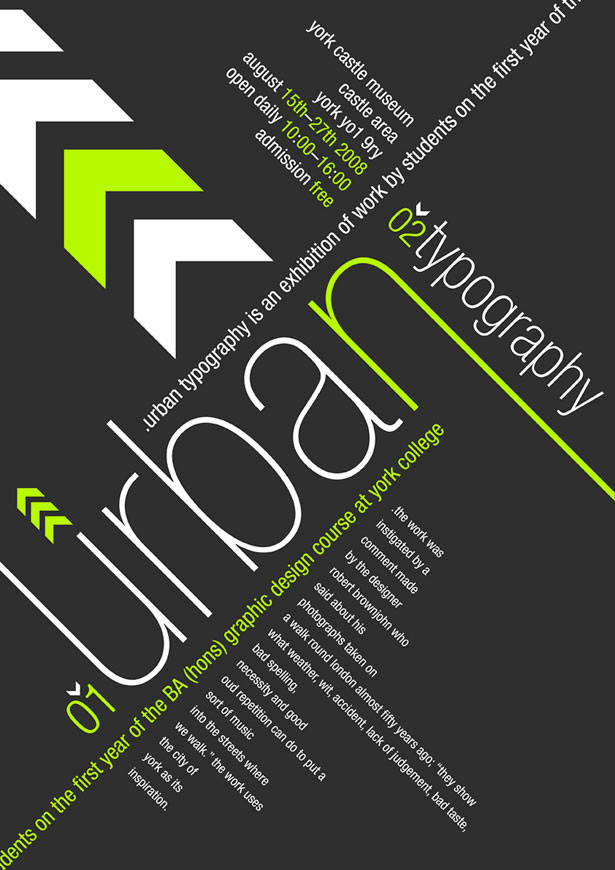 Urban Typography 25 Creative Typography Poster Design