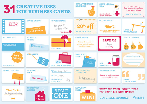 creative uses for business cards infographic 31 Creative Uses For Business Cards [Infographic]