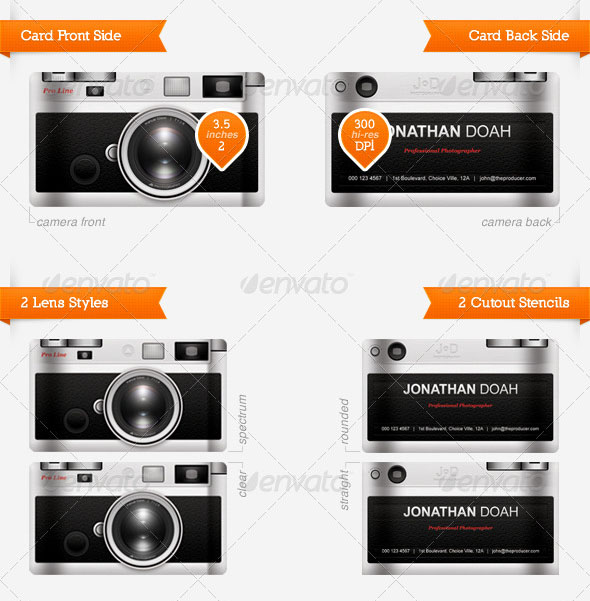 photography business card templates 04 15 Best Photography Business Card Templates