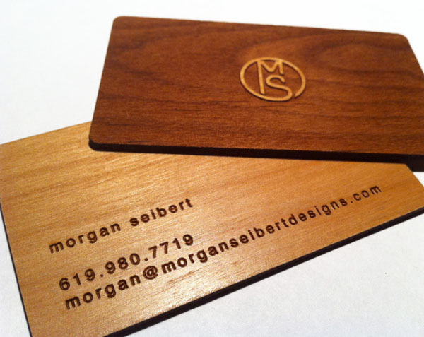 wood card 01 40 Creative Wooden Business Cards Inspiration