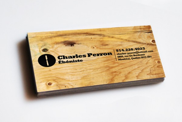 wood card 23 40 Creative Wooden Business Cards Inspiration