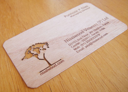 wood card 33 40 Creative Wooden Business Cards Inspiration