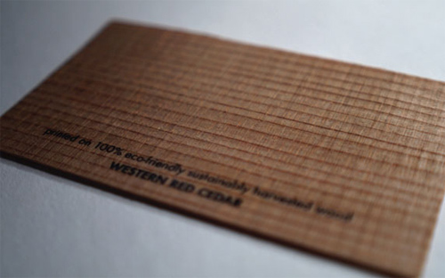 wood card 34 40 Creative Wooden Business Cards Inspiration