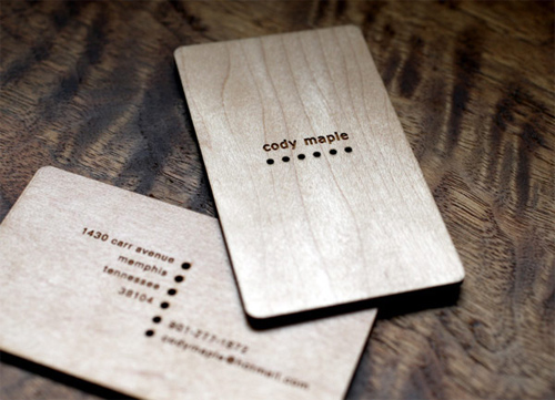 wood card 35 40 Creative Wooden Business Cards Inspiration