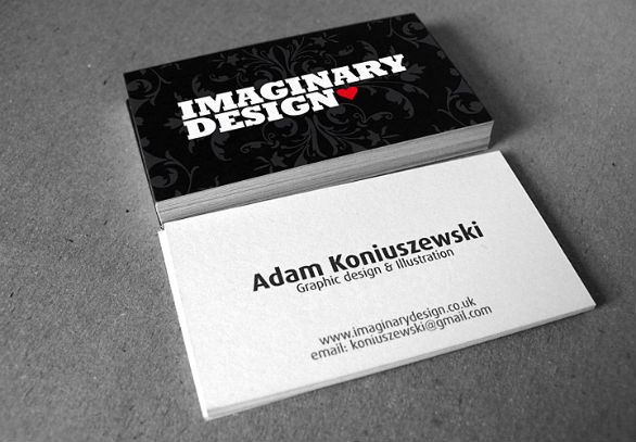 black business cards 05 40 Inspirational Black Business Cards