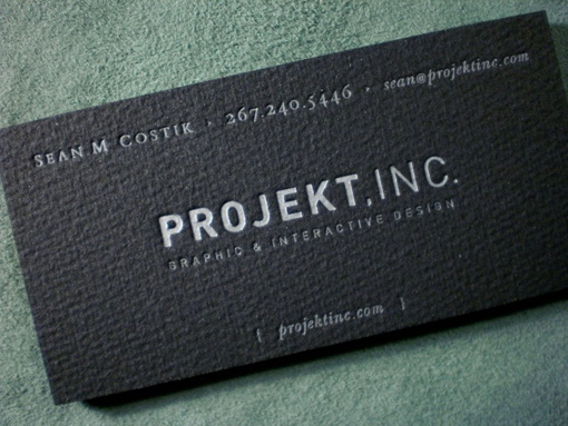 black business cards 09 40 Inspirational Black Business Cards