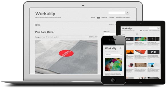workality responsive portfolio theme Workality Free Responsive Portfolio Wordpress Theme For Creative Agency