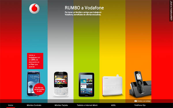 Rumbo a Vodafone Web Design Inspiration #22
