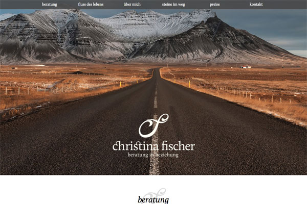 christinafischer Web Design Inspiration #22
