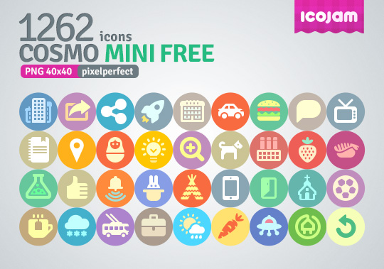 any kind of commercial or non commercial project unlimited times: smashfreakz.com/2013/05/cosmo-mini-icons