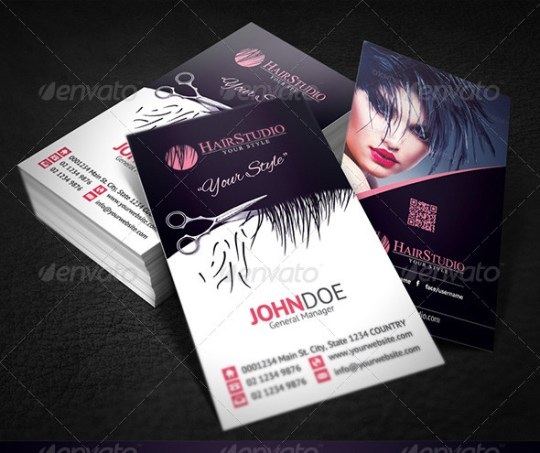 25 hair stylist business card design inspiration smashfreakz for Hair stylist business card designs