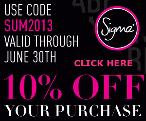 sigma beauty coupon code June 2012 Sigma Brushes Coupon Code for Sigma free shipping free gift