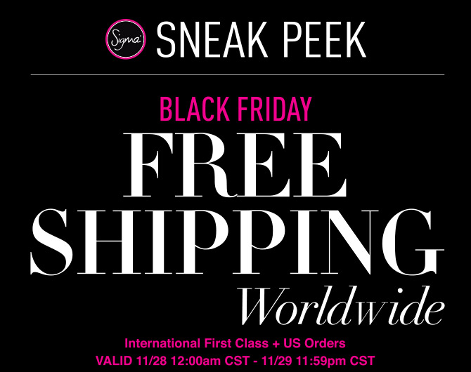 Black Friday Sales Sigma Beauty Coupons 2013