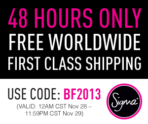 Sigma Beauty Black Friday Coupon Code 2013