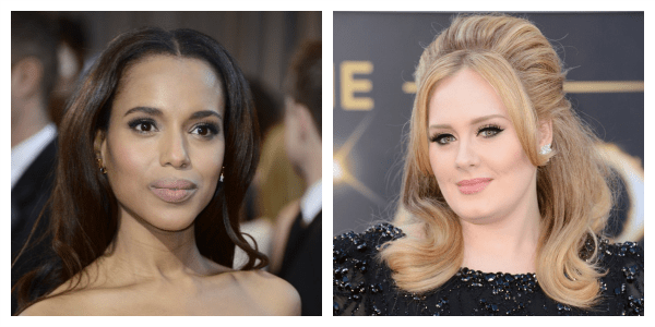 Oscars 2013 Red Carpet Top Pick Beauty  Best Blush Contour Kerry Washington Adele