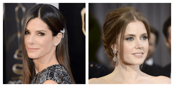 Oscars 2013 Red Carpet Top Pick Beauty  Best Nude Lips Sandra Bullock Best Glossy Lips Amy Adams