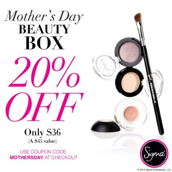 Sigma Beauty Mother's Day Coupon 20 Off 2013 Beauty Box