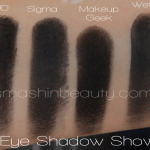 Best Black Eye Shadow (Urban Decay, Sigma Beauty, Makeup Geek, Sleek Makeup, Wet N Wild, Coastal Scents, Essence, Flormar)