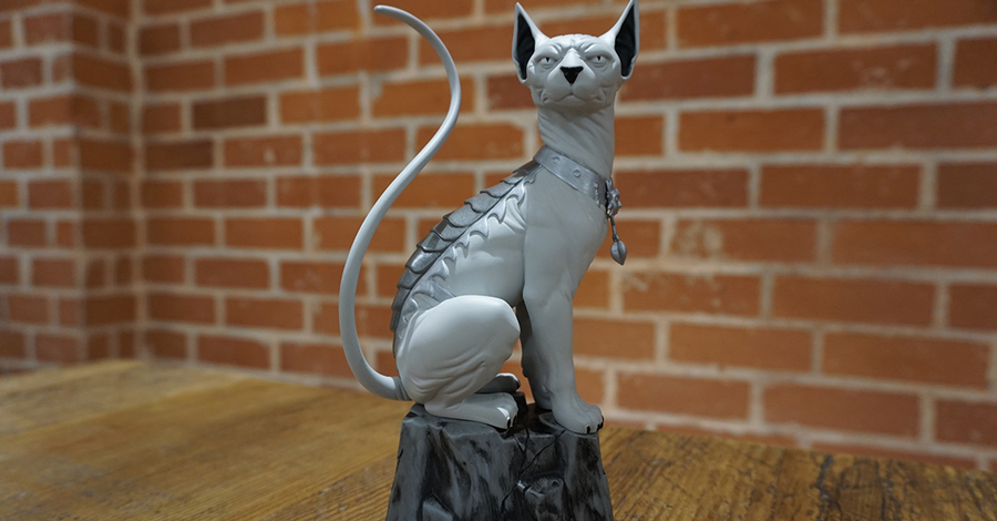 Black-and-white Lying Cat statue coming for Local Comic Shop Day