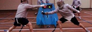Senior Weston Halberstadt fences competitively