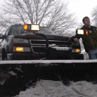 Senior earns money and finds camaraderie in plowing snow