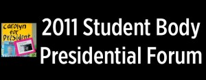 Video: 2011 Student Body Presidential Forum