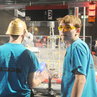 Video: Robotics Team Competes at Regionals