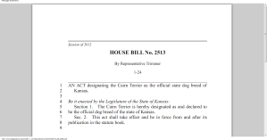 Kansas House Bill 2513: Official State Dog Breed