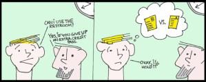 Editorial Cartoon: Bathroom Passes