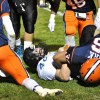 Patrick Blackburn recovers after a tackle. Photo by Erin Reilly.