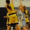 Gabriel Pisterzi defending her teams basket from Photo by Hayden Roste