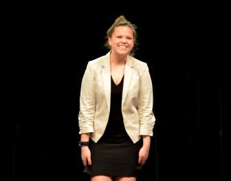 Becca Zeiger performs her Humorous Interpretation.