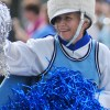 """Mrs. Ardt Hegleson, known among students as """"Yoda"""", dances in the parade. Photo by Annie Savage"""