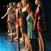 "A group of ladies ranging from freshmen to seniors sang ""Our Lips Are Sealed"" by Jane Weidlen. Photo by Leah O'Connor"